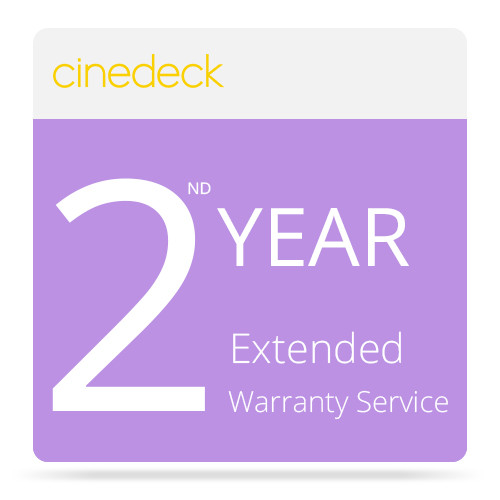 Cinedeck Extended Warranty Service for RX Recorder / Monitor / Playback System (2nd Year)