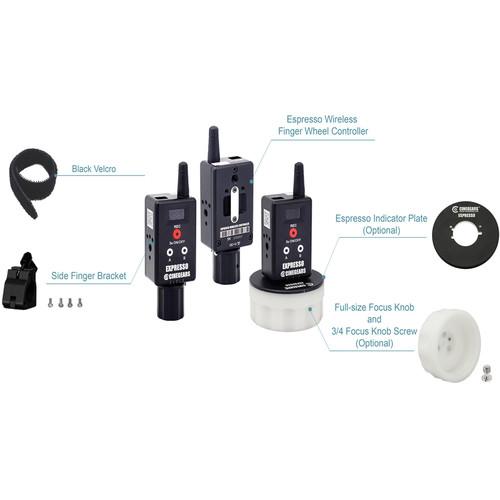 CINEGEARS Single Axis Wireless Finger Wheel Accessory Package