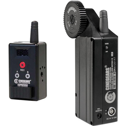 CINEGEARS Single Axis Wireless Mini Rocker Controller Kit with Extreme High Torque Motor and Hard Case