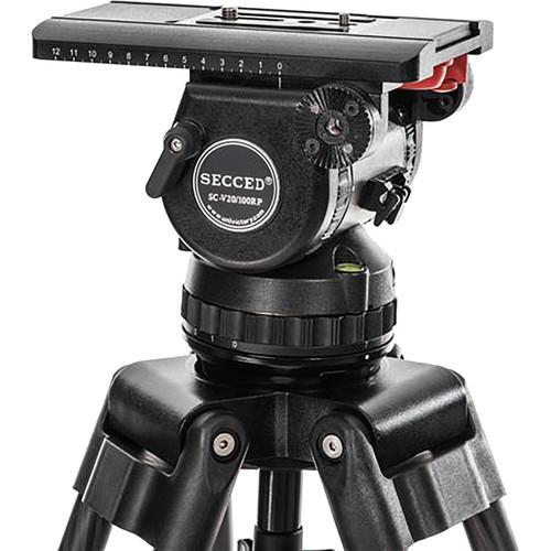 Secced SC-V20/100RP Fluid Head for EFP and Studio Cameras