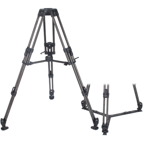 Secced 2-Stage 100mm Bowl Carbon Fiber Tripod with Ground & Mid-Level Spreaders