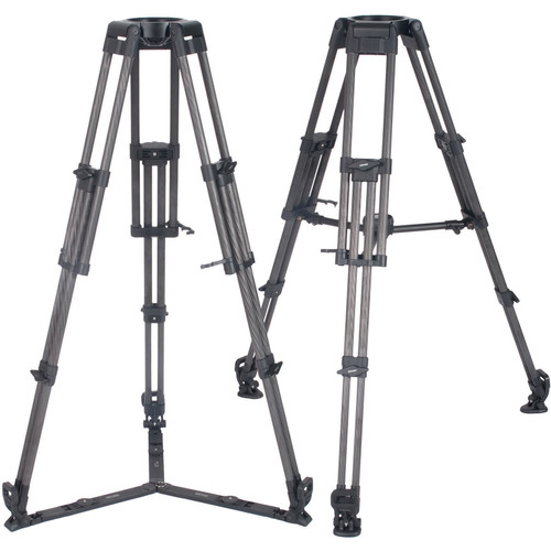 Secced 2-Stage 150mm Bowl Carbon Fiber Heavy-Duty Tripod with Mid-Level & Ground Spreaders