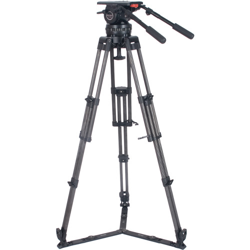 Secced Four-Section Carbon Fiber Tripod System with DV4 Fluid Head