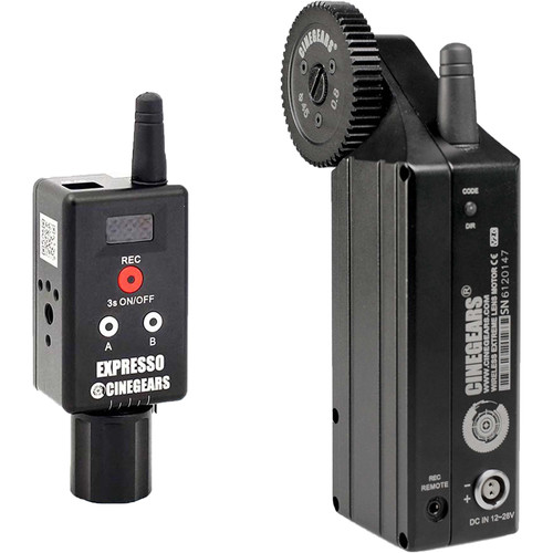 CINEGEARS Single Axis Wireless Follow Focus Mini Controller Kit with Extreme High Torque Motor
