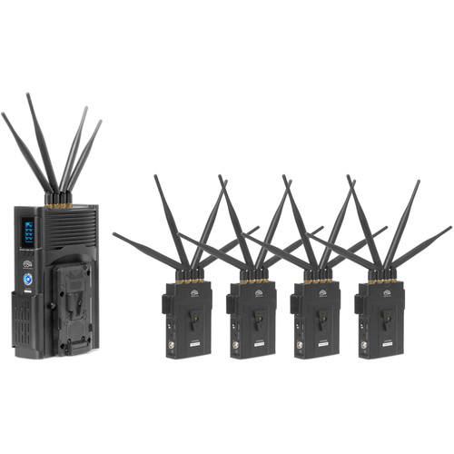 CINEGEARS Four In One 2000M-H Full-Hd Wireless Video Transmission Kit With Hand Held Receiver And  4 Transmitt
