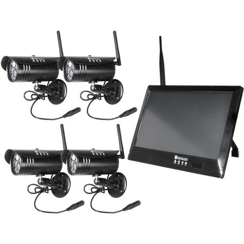 "Wireless Prime 10"" Touchscreen DVR & 4 1080p Wireless Cameras with Night Vision"