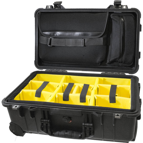 CINEGEARS Pelican 1510 Case With Padded Dividers (Black)