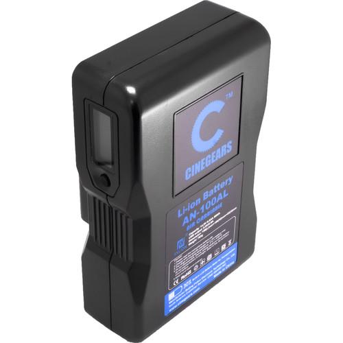 CINEGEARS 100Wh Compact Lithium-Ion Gold-Mount Battery