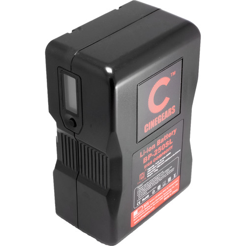 CINEGEARS 250Wh High-Capacity Lithium-Ion V-Mount Battery
