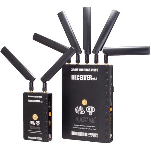 CINEGEARS Ghost-Eye Wireless HDMI & SDI Video Transmission Kit 300M V2 (Gold Mount)