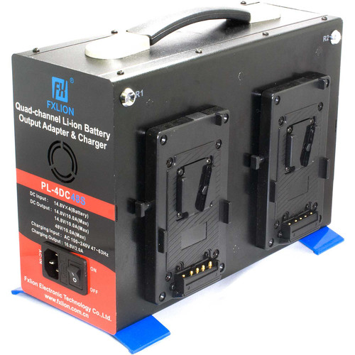 CINEGEARS Quad-Charger Power Station (Gold-Mount, 48 VDC)