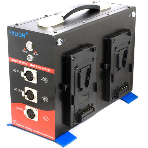 CINEGEARS 14 VDC Quad-Charger Power Station with Discharger (Gold-Mount)