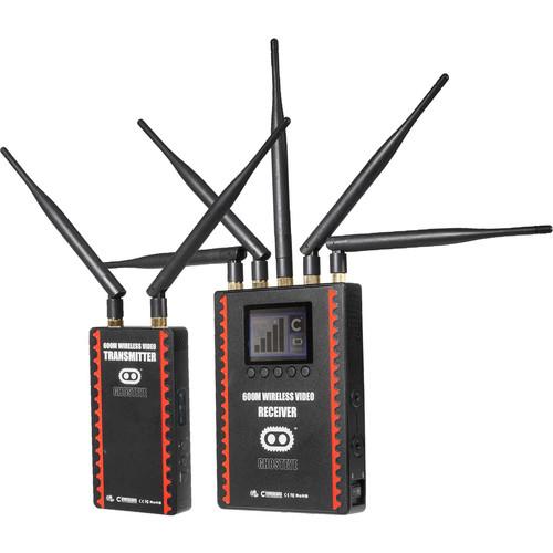 CINEGEARS Ghost-Eye Wireless 600M HDMI & SDI Video Transmission Kit (Gold Mount, Encrypted)