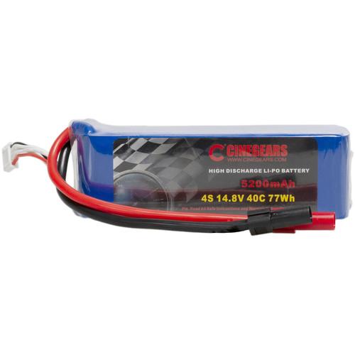CINEGEARS 14.8V 77Wh LiPo Battery for RC Gimbal Car (Blue)