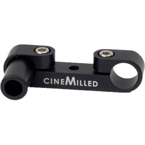 """CineMilled 15mm Rod Clamp Lens Motor Offset Bracket (2.2"""")"""