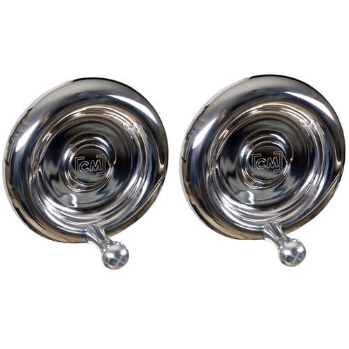 CineMilled Stainless Steel Wheels for Alpha Wheels System (Pair, Silver Handles)