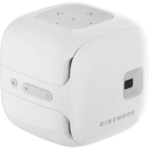 CINEMOOD Storyteller 35-Lumen nHD DLP Pico Projector with Wi-Fi (White)