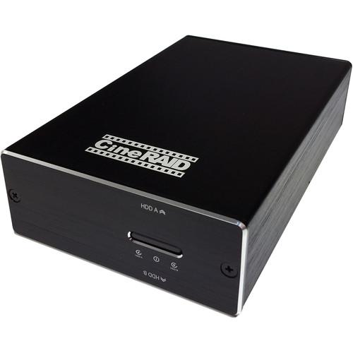 CineRAID CR-H218 480GB 2-Bay USB 3.1 Gen 2 Type-C Raid Array (2 x 240GB SSD)