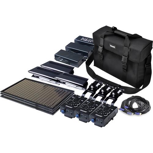 Cineroid CL800 RGBW LED 3 x Light Kit (V-Mount)