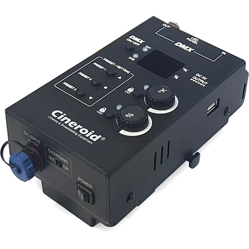 Cineroid Controller with DMX for FL 400 and FL 800 Flexible Panels (V-Mount)