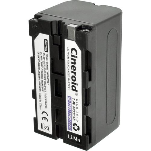 Cineroid NP-F750 Type L-Series Lithium-Manganese Battery (7.4V, 4400mAh)