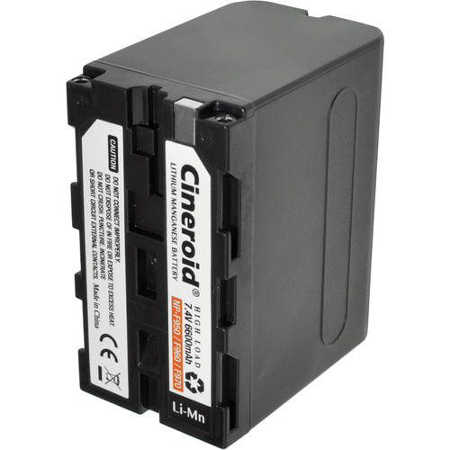 Cineroid NP-F950 Type L-Series Lithium-Manganese Battery (7.4V, 6600mAh)