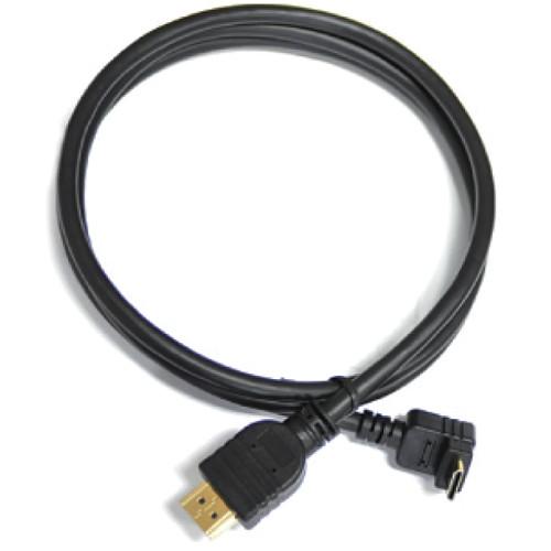 Cineroid Right-Angle Mini-HDMI to HDMI Cable (3.9')