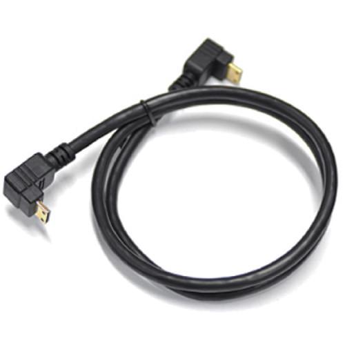 """Cineroid HCRF07CRF 27.6"""" Right-Angle Male Mini-HDMI to Male Mini-HDMI Cable (Inverted to Inverted)"""