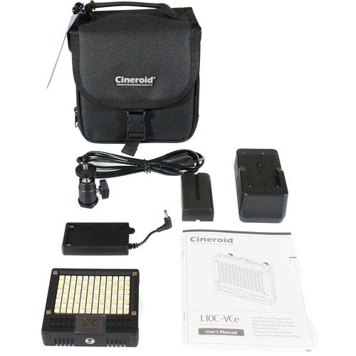 Cineroid 18W On-Camera Variable Color LED Light Kit