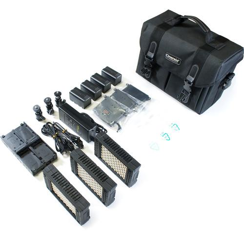 Cineroid LM-200 Bi-Color LED Three Light Kit