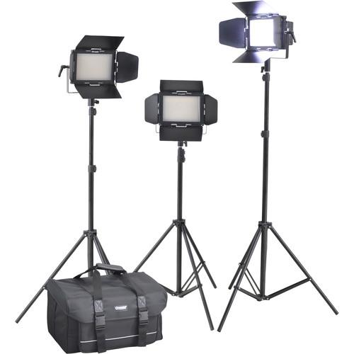 Cineroid LM400-3setV Professional LED 3-Light Kit