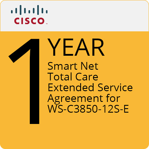 Cisco 1-Year Smart Net Total Care Extended Service Agreement for WS-C3850-12S-E