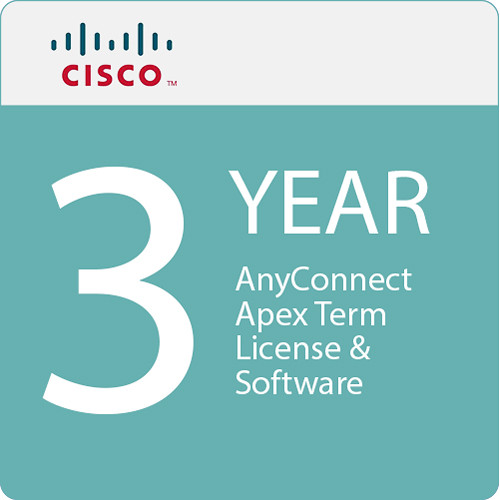 Cisco AnyConnect Apex +3 Years Software Application Support (Plus Upgrades, SASU)