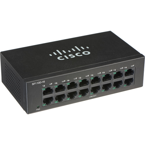 Cisco SF110D 110 Series 16-Port Unmanaged Network Switch