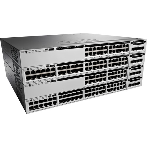 Cisco Catalyst 3850 Stackable 12 SFP+ Ethernet with Power Supply and IP Services Feature Set (1RU)