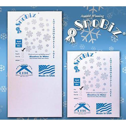 CITC SnoBiz Close-Up Biodegradable Artificial Snowflakes (5 ft<sup>3</sup>)