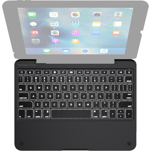 ClamCase ClamCase+ Power Keyboard for iPad Air 2 (Black)