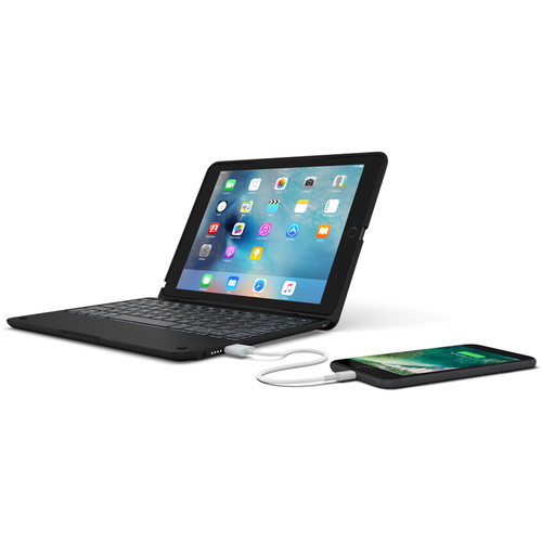 ClamCase ClamCase+ Power Keyboard for iPad Pro 9.7 (Black)