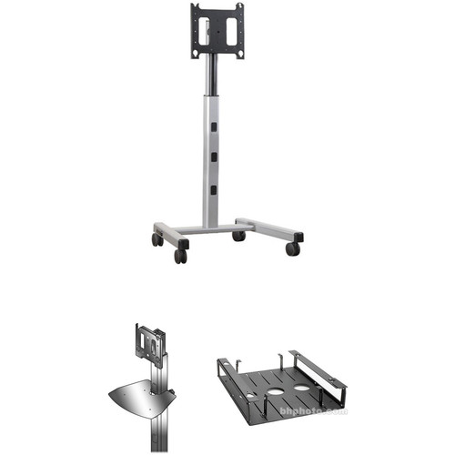 "ClaryIcon Mobile Cart for Up to 70"" Display"