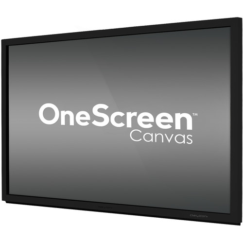 "ClaryIcon OneScreen Canvas Interactive Whiteboard on 65"" Touch Screen (Without PC)"