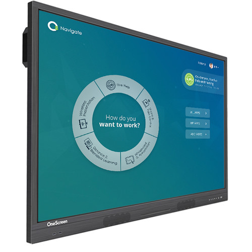 """OneScreen Solutions 75"""" h5 Hubware Touchscreen All-in-One Collaboration Hub"""