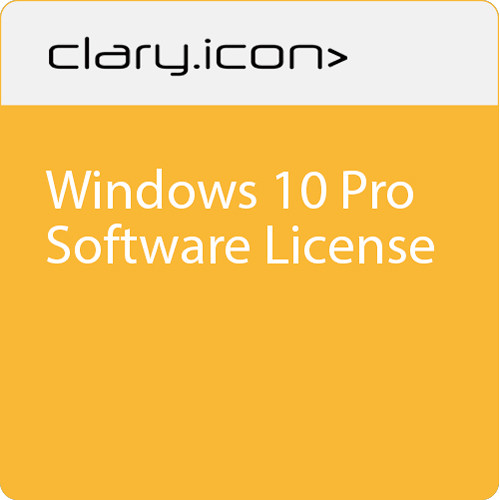ClaryIcon Windows 10 Pro Software License