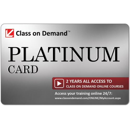 Class on Demand Media Platinum 2 Years All-Access Card for Online Courses