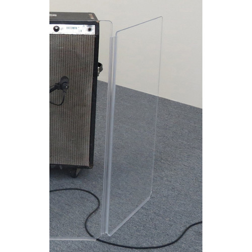 """ClearSonic A1834 CSP 18""""-Wide Clear Acrylic Side Panels for AmpPac 32 Amp Shield"""
