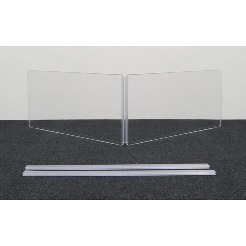 """ClearSonic ARX2412x2 Scratch-Resistant Two-Section Height Extender with H-Channel (24x12"""" WxH)"""