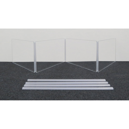 """ClearSonic ARX2412x4 Scratch-Resistant Four-Section Height Extender with H-Channel (24x12"""" WxH)"""