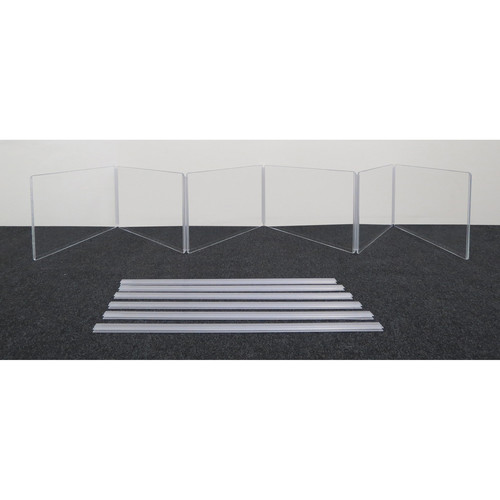 """ClearSonic ARX2412x6 Scratch-Resistant Six-Section Height Extender with H-Channel (24x12"""" WxH)"""