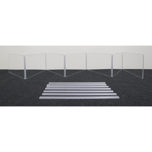 """ClearSonic ARX2412x7 Scratch-Resistant Seven-Section Height Extender with H-Channel (24x12"""" WxH)"""