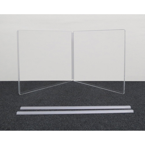 """ClearSonic ARX2418x2 Scratch-Resistant Two-Section Height Extender with H-Channel (24x18"""" WxH)"""