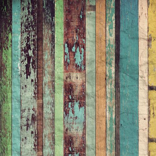 Click Props Backdrops Coloured Plank Backdrop (5 x 5')